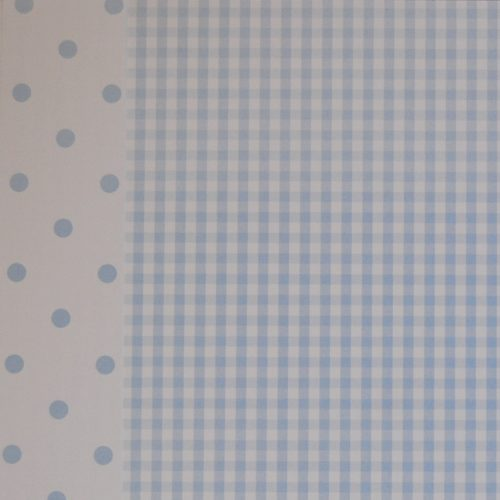 Papel Vichy azul 12x12 PAPERS FOR YOU