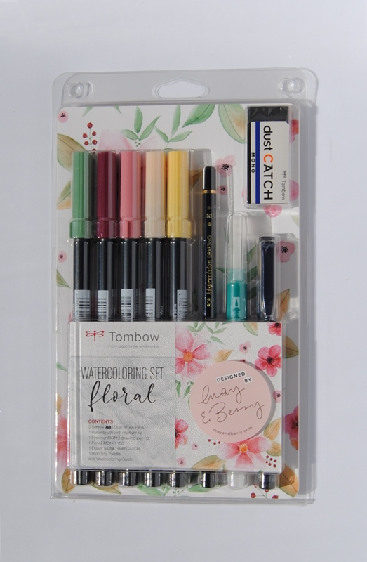 Set Floral TOMBOW Watercoloring
